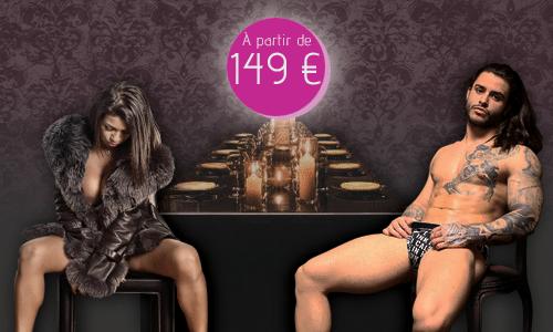 Week-End Stripteaseur Restaurant Soirée Enterrement Vie Jeune Fille Paris, Lyon, Marseille, Toulouse, Bordeaux, Lille, Nantes, Nice, Strasbourg, Rennes, Metz, Montpellier, Orléans, Cannes, Monaco pas cher.